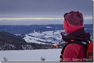 Blick in Richtung der Alpen vom Herzogenhorn