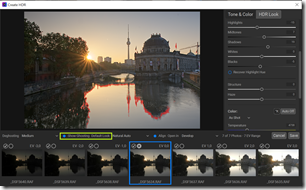 Create HDR Dialog in ON1 Photo RAW